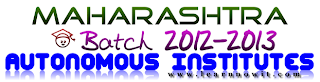 list of autonomous engineering colleges in maharashtra 2012 ,Autonomous Institutes,cap rounds,admission,dte,list