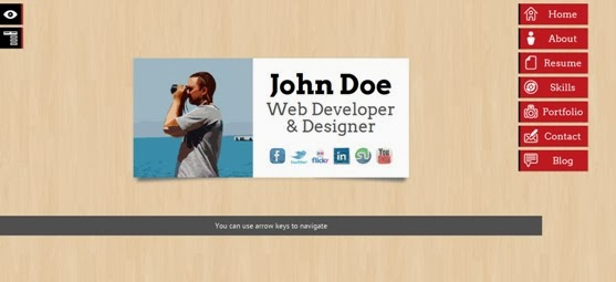 AboutMe 3D Responsive Vcard Joomla Template