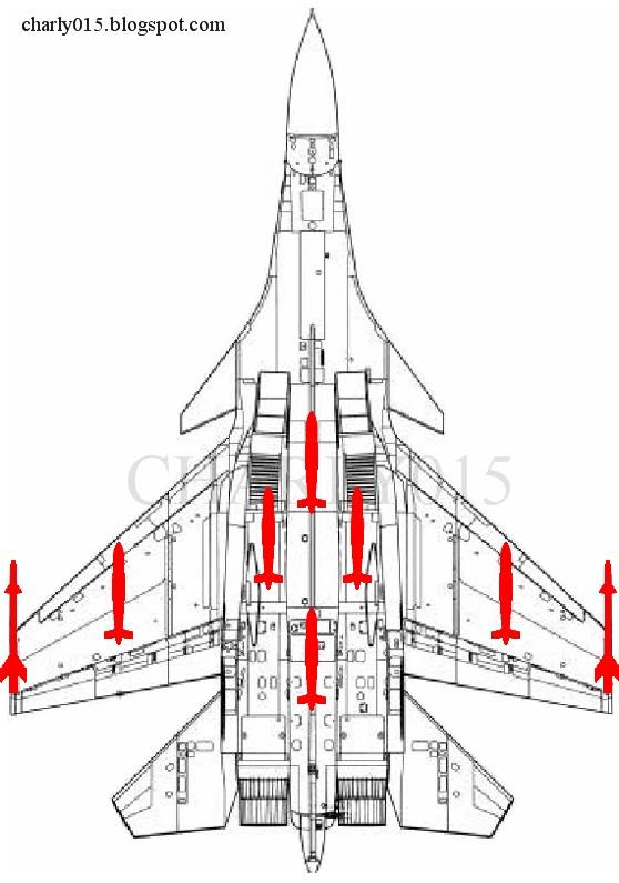 El J-15 es Mejor que el F/A-18 en Combate Aéreo y Ligeramente Inferior en Términos de ataque contra Objetivos Marítimos Su-33+plano+6+bombas+china