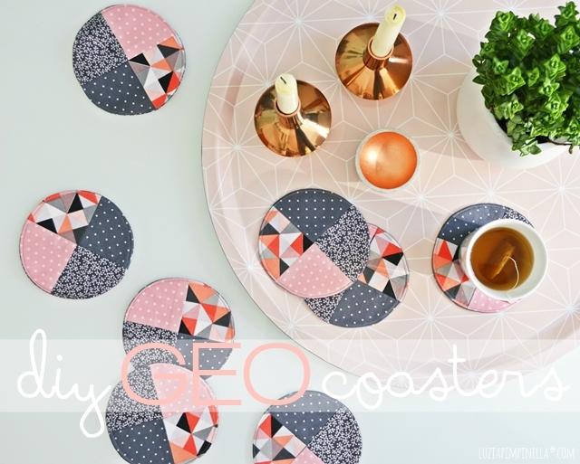 luzia pimpinella | DIY | geo untersetzer selber nähen | sewing geo coasters