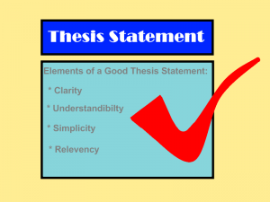 What is a thesis statement? ?