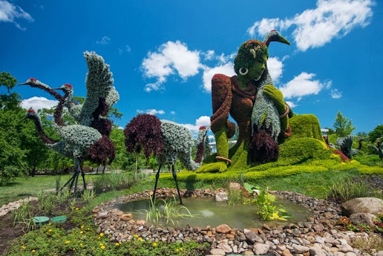 Jaw-dropping Plant Sculptures of Mosaiculture International