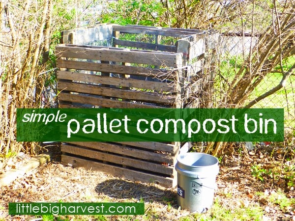 simple pallet compost bin