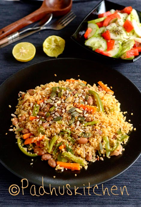 Vegetable quinoa pilaf recipe with pinto beans vegetarian for Quinoa recipes indian