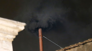 Conclave, 2013, College of Cardinals, black smoke, Sistine Chapel, chimney, first vote, scrutinies