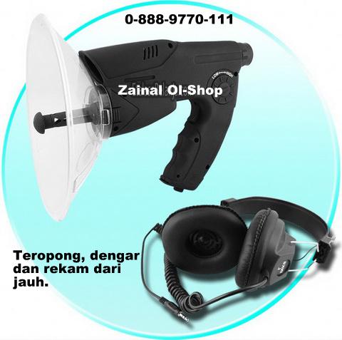 alat sadap suara dan rekam jarak dekat parabola hearing