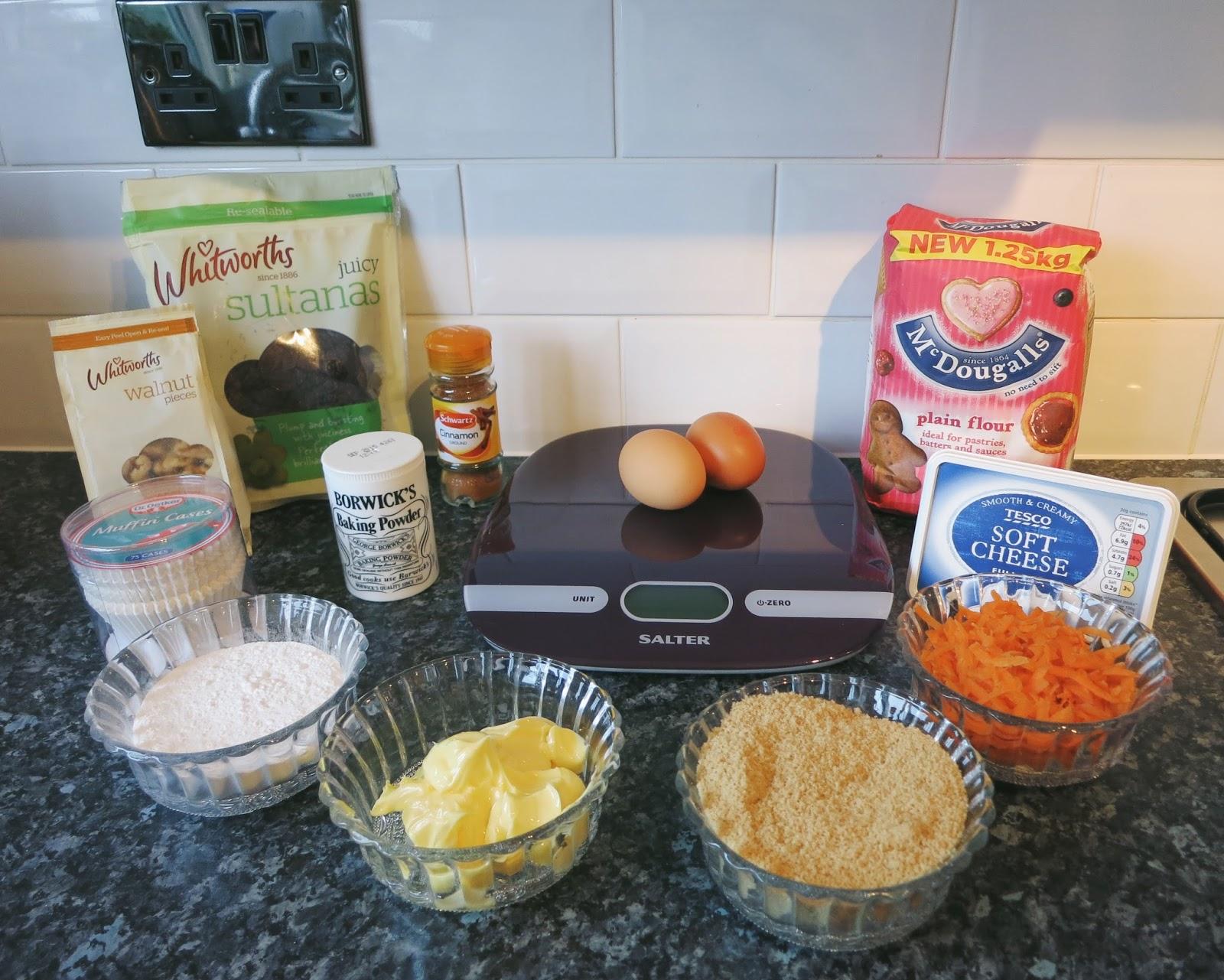 Carrot and walnut muffin recipe