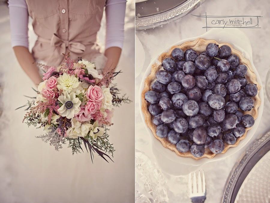Красивая зимняя свадебная фотосессия