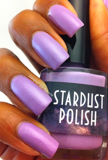 Lacquer Lockdown - Stardust Polish, Stardust Polish Lavendar Dream, lavender polish, spring nail polish, cute nail polish, indie nail polish, purple nail polish, holographic lavender nail polish, holographic, blue shimmer nail polish, indie nail polish