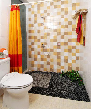 Contoh desain kamar mandi minimalis modern