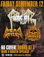 Local Talent Showcase:FUNCTOR, DEAD ASYLUM (Tour Kickoff), RESURGENCE Friday Sept 12-The Wolf Bar