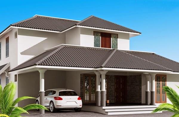 Desain Atap genteng Ruang Tamu Rumah Minimalis
