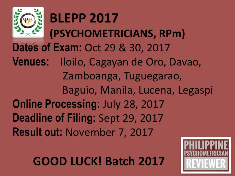 BLEPP 2017 Schedule