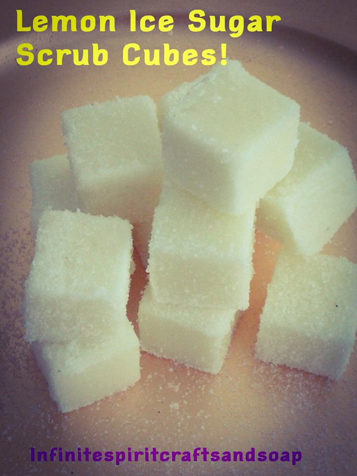 LEMON ICE SUGAR SCRUB CUBES