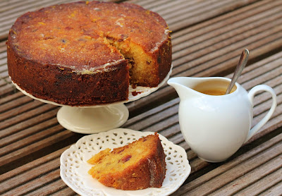 Sticky date and orange cake with toffee sauce