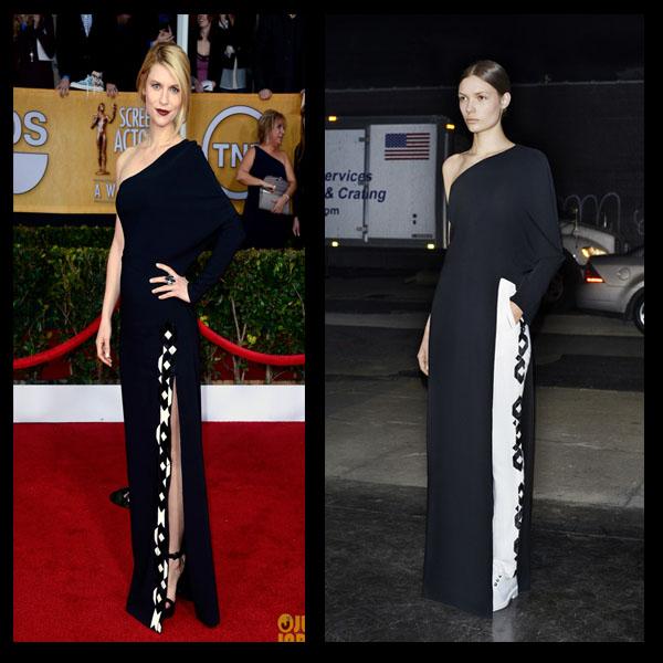 a filha do chefe Claire Danes vestido Givenchy batom vinho SAG Awards