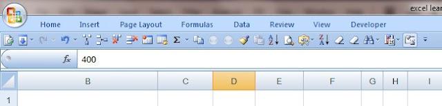 Excel's menu tap and Quick access toolbar