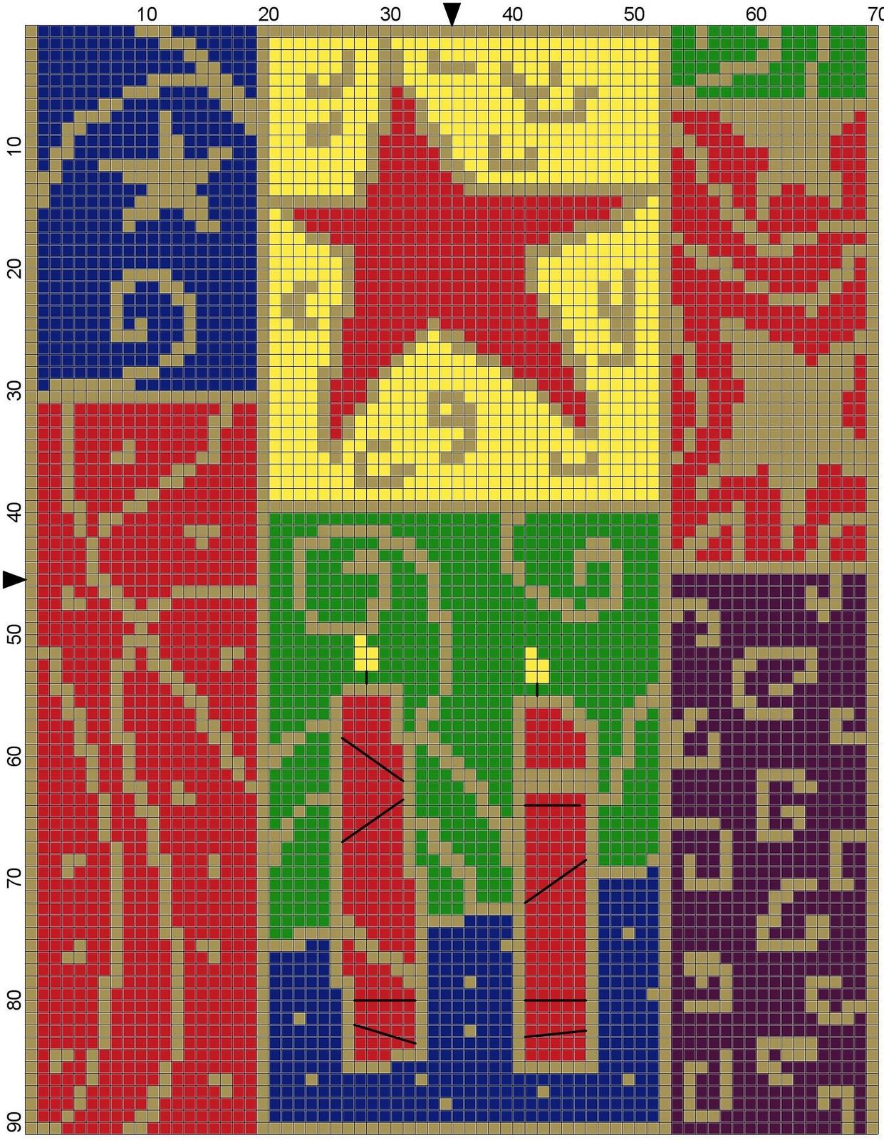 Knit stitch crochet mini stocking cross stitch for Charles craft christmas stockings