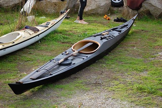 Stitch+and+Glue+Kayaks+Baidarka Rough Water Qajaq: Night Heron Kayak ...