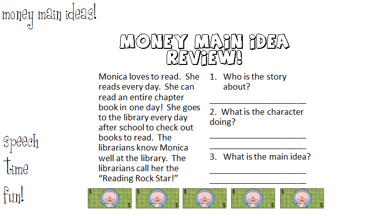 Money Main Ideas Shopping for Sequences – Main Idea Worksheets Middle School
