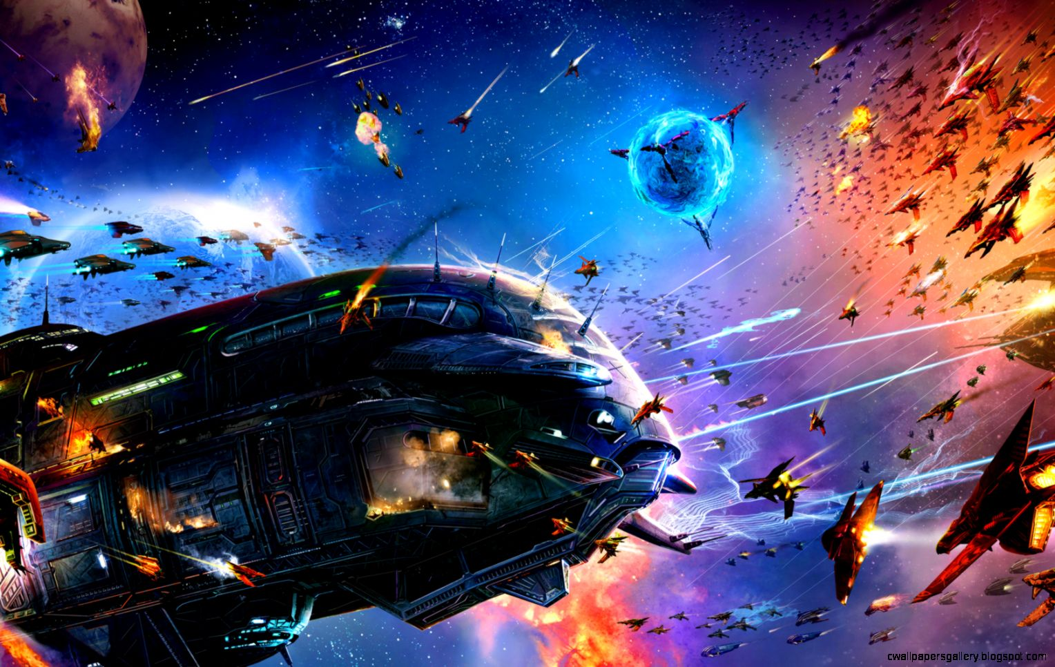 Star Wars Space Battle Wallpaper   WallpaperSafari