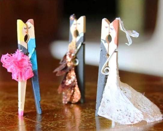 Bodas simp ticos recuerdos originales hechos con pinzas - Manualidades para una boda ...