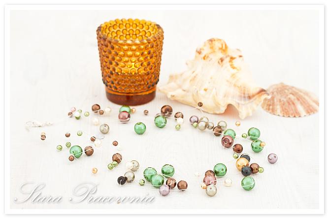 Korale, biżuteria ręcznie robiona, rękodzieło, korale z perłami, unikalna biżuteria, bizuteria autorska, naszyjnik