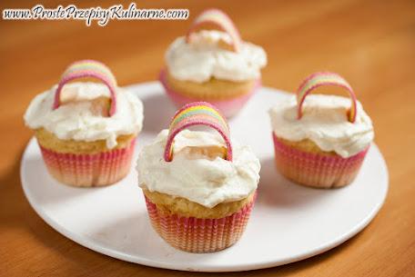 Muffiny z tęczą