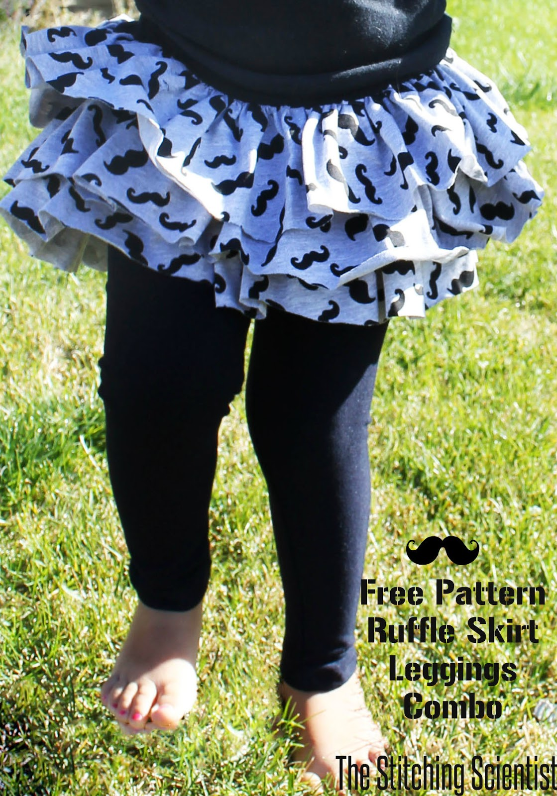 Ruffle skirt and leggings combo with free pattern the stitching once the elastic is in sew the opening close you can serge the top before you do the elastic but knit doesnt ravel so its not necessary bankloansurffo Images
