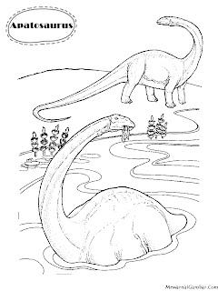 Download Gambar Mewarnai Dinosaurus Apatosaurus