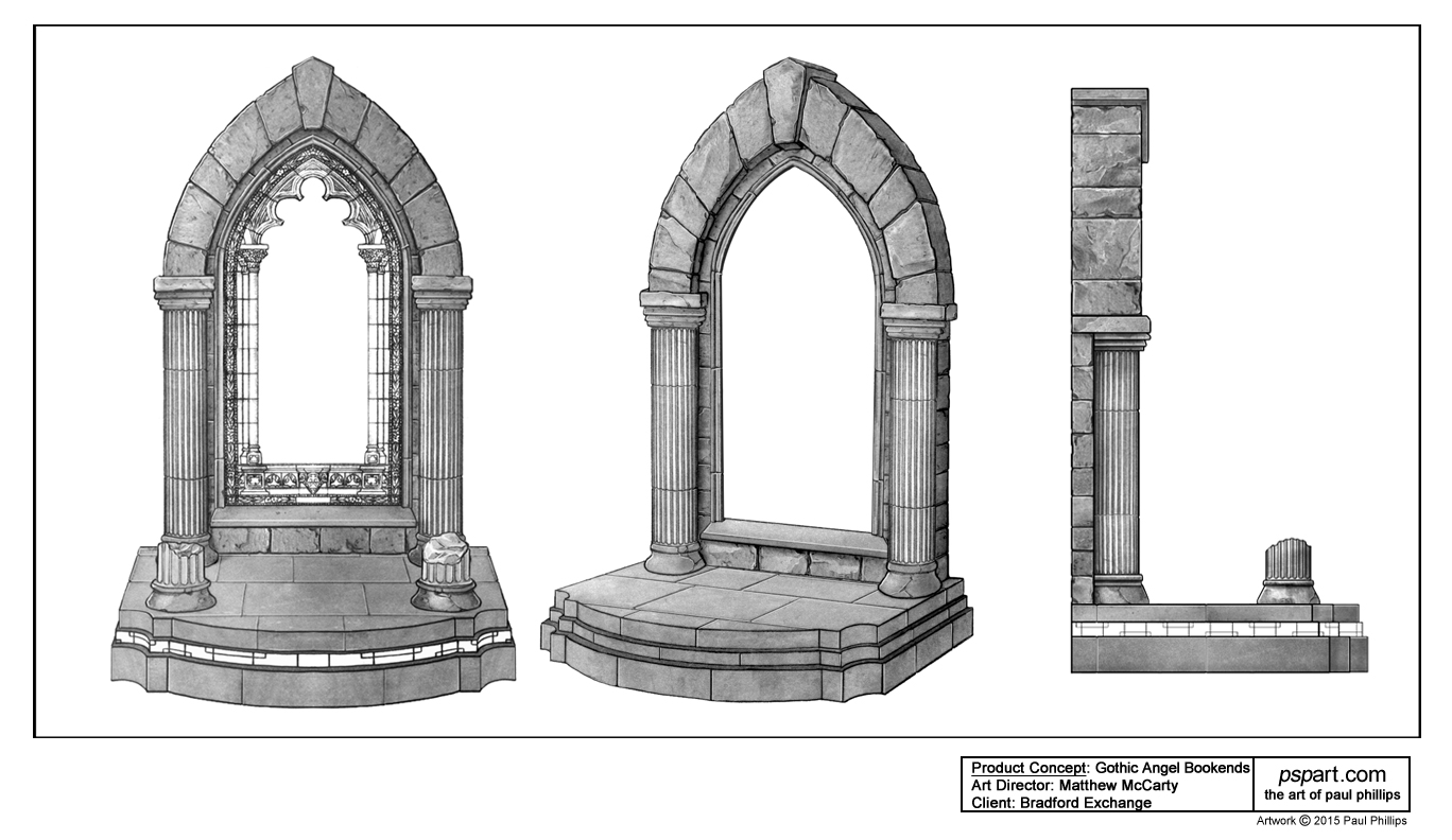 Gothic Arch For Angel Bookends