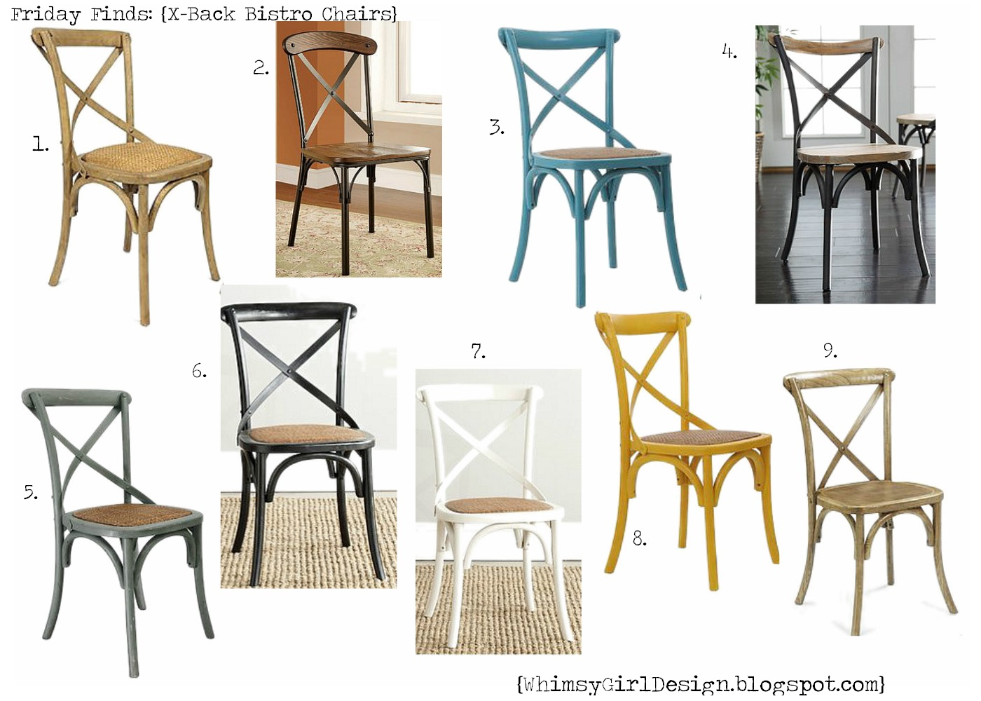 Friday Finds: {X Back Bistro Chairs}