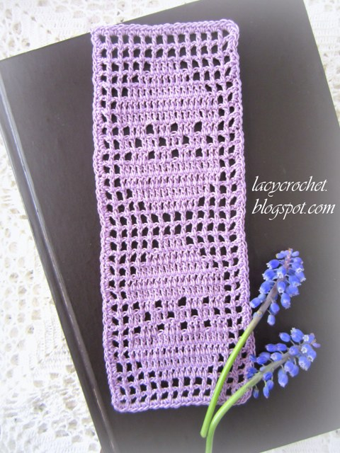 Lacy Crochet Easter Eggs Bookmark Filet Crochet Pattern