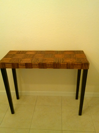 Pier 1 Bamboo accent sofa table