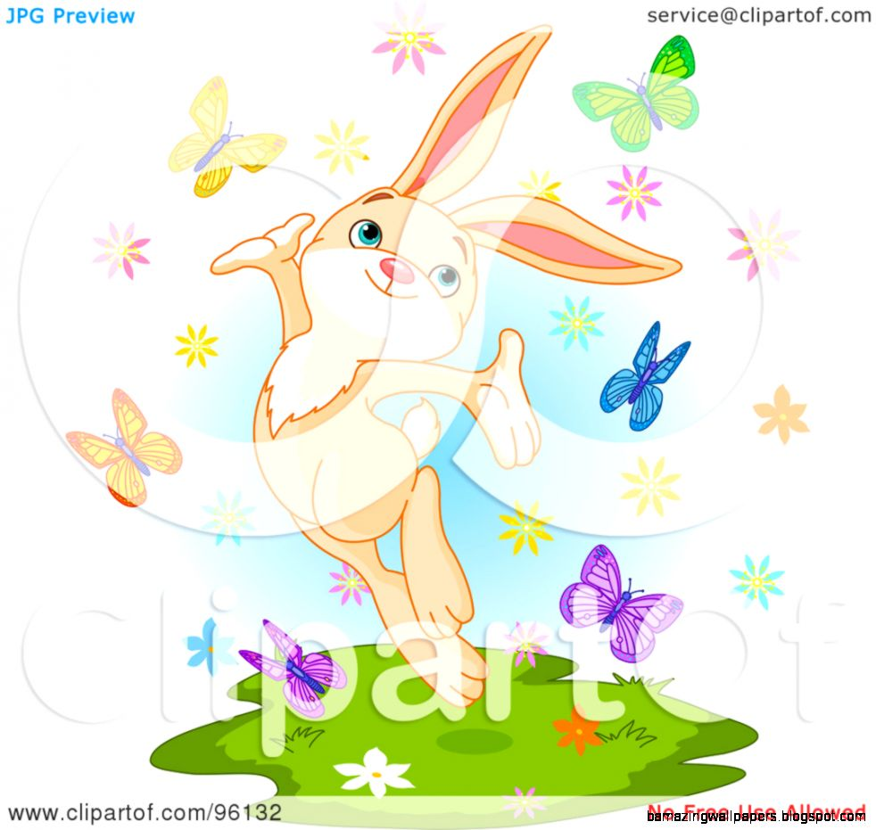 Royalty Free RF Clipart Illustration of a Happy Spring Time