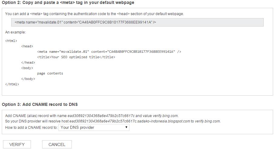Langkah-langkah mendaftarkan situs di Bing Webmaster Tools 6