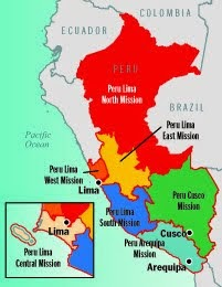 Peru Lima West Mission Map