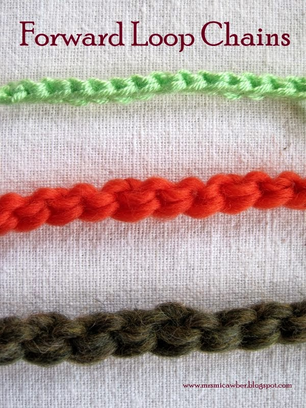 chain stitches, and quicker than Foundation Crochet, the Forward Loop ...