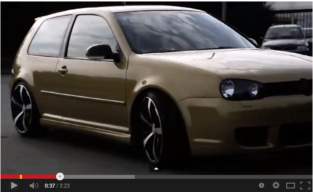 golf 4tuning german a volkswagen golf video. Black Bedroom Furniture Sets. Home Design Ideas
