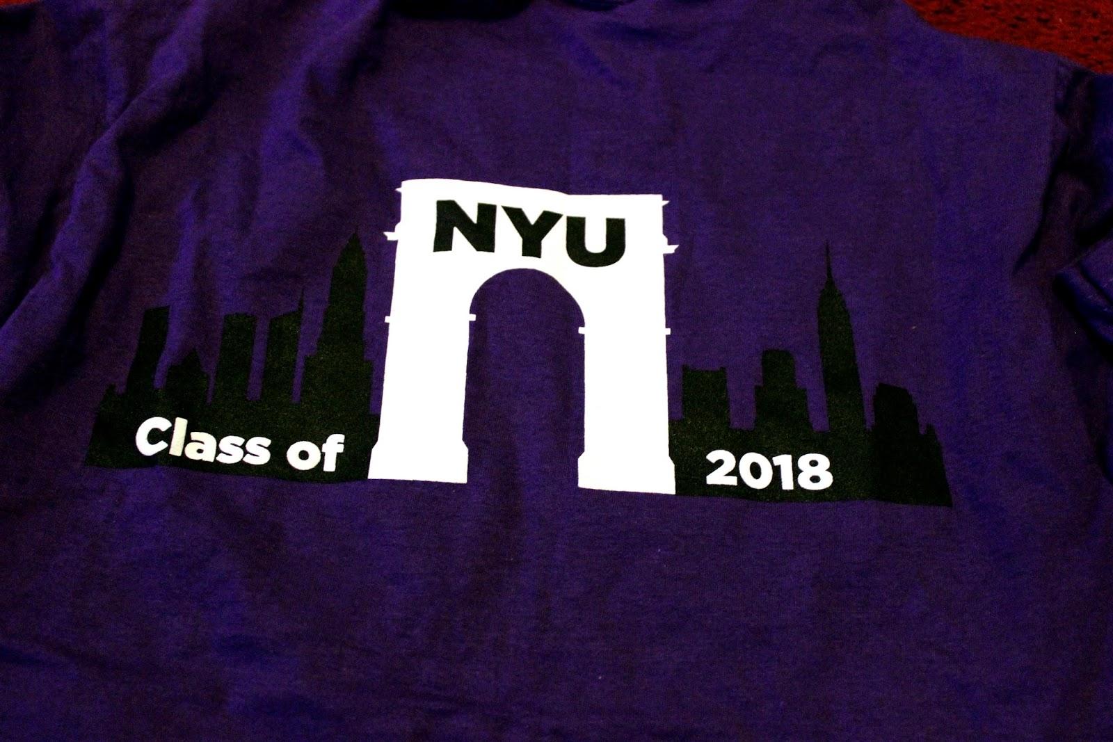 NYU class of 2018 t-shirt
