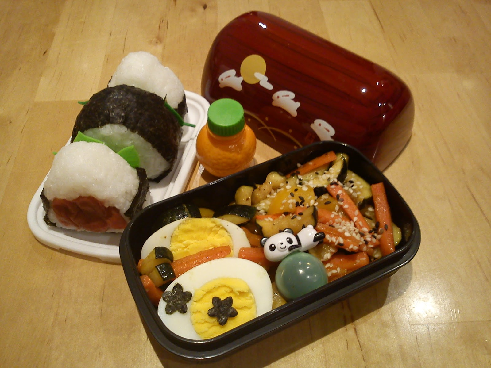 tasty bento bento nr 149 onigiri mit pfannengem se. Black Bedroom Furniture Sets. Home Design Ideas