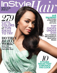 Instyle Hair - Zoe Saldana