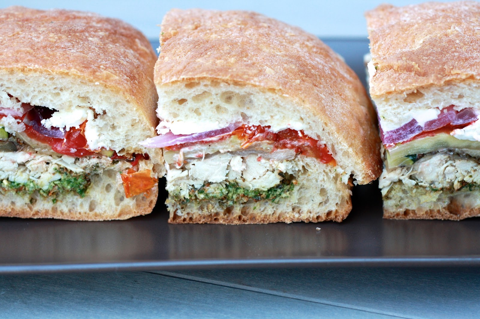 Goat Cheese And Vegetable Sandwich Recipe — Dishmaps