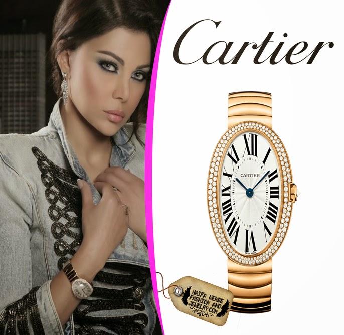 Haifa Wehbe Fashion And Jewelry Haifa Wehbe Wearing A Gold Cartier