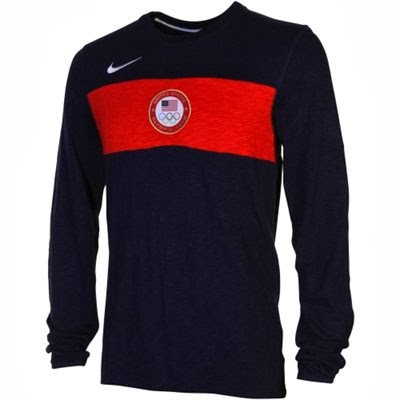 Nike USA 2014 Winter Olympics Long Sleeve Heavyweight Sweatshirt