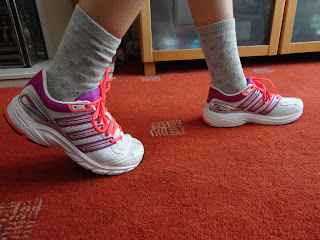 Top Ender wearing her new Trainers