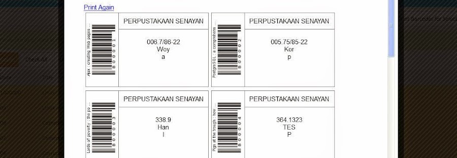 Instalasi Label Barcode SLiMS Cendana