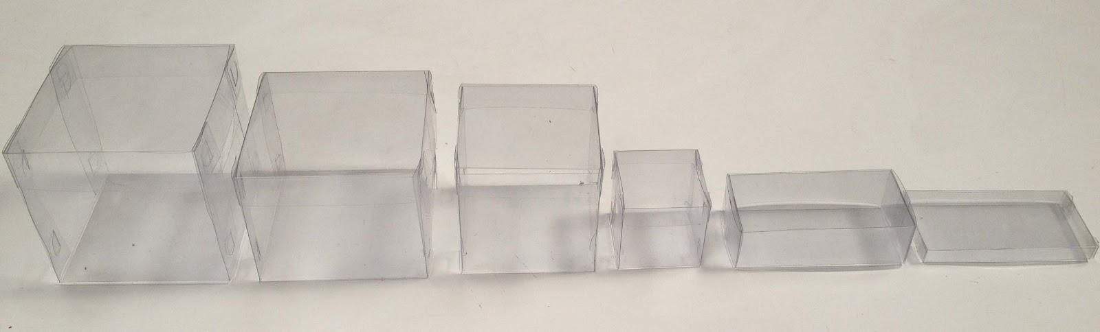 Trofeos joyas y adornos cajas para regalo de acetato for Cajas de plastico transparente