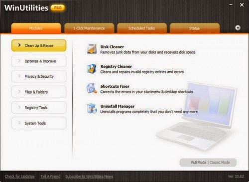 Free Download WinUtilities Pro 11.16 Multilanguage Portable With Working Key