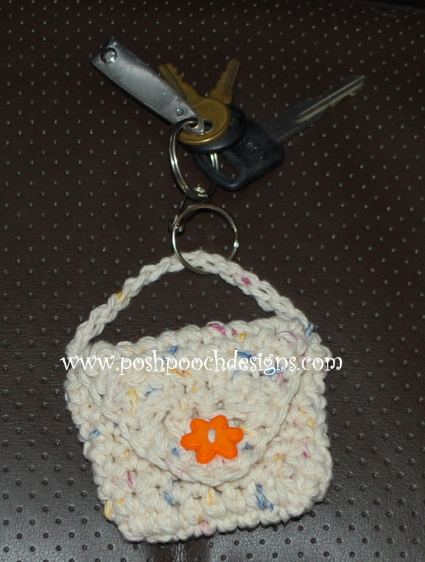 Crochet Purse Keychain Pattern : Posh Pooch Designs Dog Clothes: Key Chain Bag Crochet Pattern